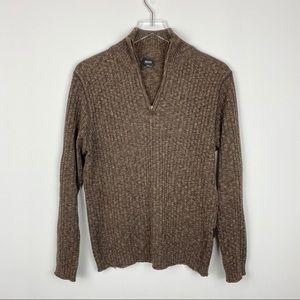 BOSS Hugo Boss Wool Zipper Sweater
